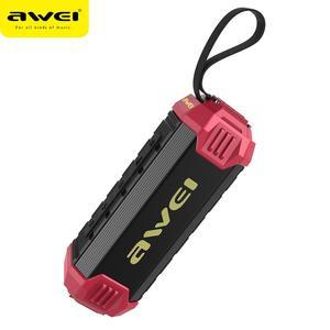 Awei Y280 портативный IPX4 водонепроницаемый беспроводной громкий динамик, уличная звуковая система, двойная стереозвуковая дорожка, AUX TF карта, ...