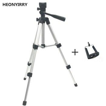 Professional Foldable Camera Tripod Holder Stand Screw 360 Degree Fluid Head Tripod Stabilizer Aluminum with Phone Holder 1