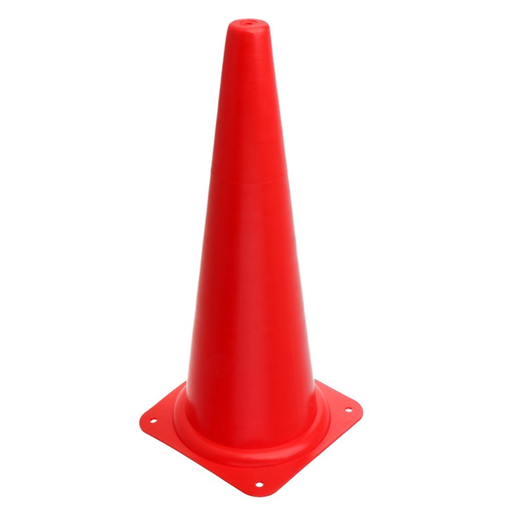 48 см конус безопасности для спортивных тренировок, футбола, строительства, дорожного движения - Цвет: Красный