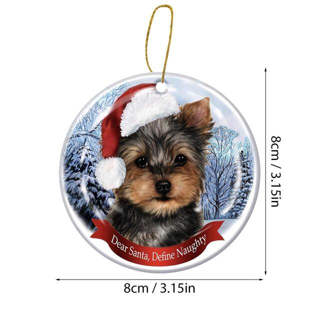 Dog Tree Pendants Merry Christmas  6