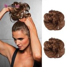 Кудрявые волосы пучок 100% 25 человеческие волосы резинки для волос наращивание реми настоящие шиньоны человеческие волосы кусок накидка конский хвост кудрявые волна шиньоны