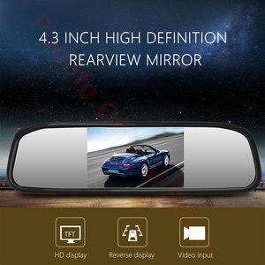 "Image 5 - Podofo 4.3 ""רכב Rearview מירור צג אוטומטי חניה מערכת + LED ראיית לילה גיבוי הפוך מצלמה Ccd רכב מבט אחורי מצלמה"