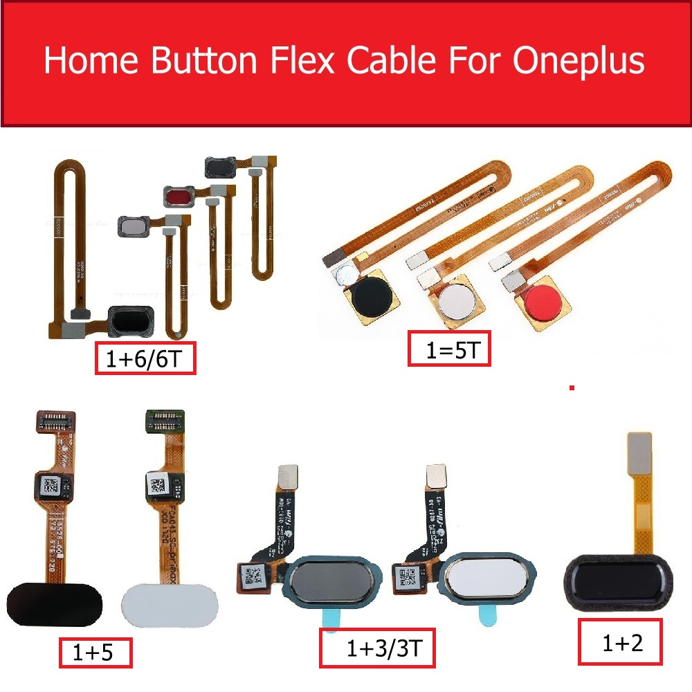 Genuine Home Button Fingerprint Sensor Flex Cable For Oneplus 2 3 3T 5 5T 6 6T Menu Return Key Touch Flex Ribbon Repair Parts