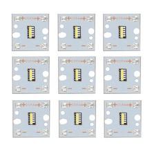 9 шт. Osram лампы 5 Вт 10 Вт 15 Вт 20 Вт 25 Вт высокой мощности Светодиодный светильник супер яркий 6500 к светодиодный PCB бисер 2 мм трубки для автомобильные передние фары DIY