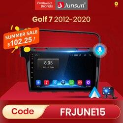 (Код:LOVE) Автомобильный мультимедийный плеер Junsun, автомагнитола на Android 10 с голосовым управлением и ИИ для Volkswagen Golf 7 2013-2017, GPS-навигацией, 2 din, б...