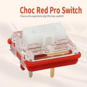 Image 4 - Kailh Box/przełącznik niskoprofilowy czekoladowa mechaniczna klawiatura RGB SMD biała łodyga liniowy ręczny czerwony przełącznik Rro