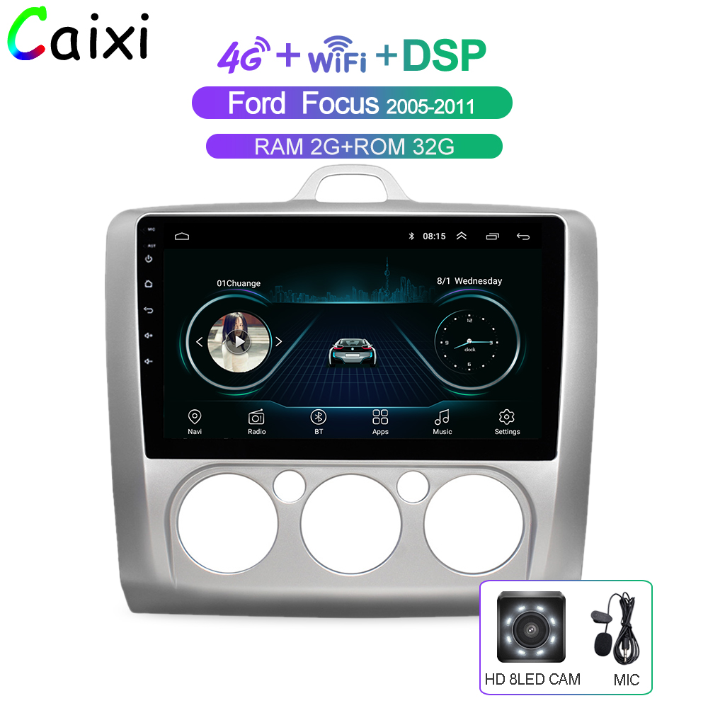 CAIXI Auto Android 8.1 Multimedia-Player für <font><b>Ford</b></font> <font><b>Focus</b></font> Exi MT AT <font><b>2</b></font> 2004 2005 2006 2007 2008-2011 Auto radio GPS Navigation image