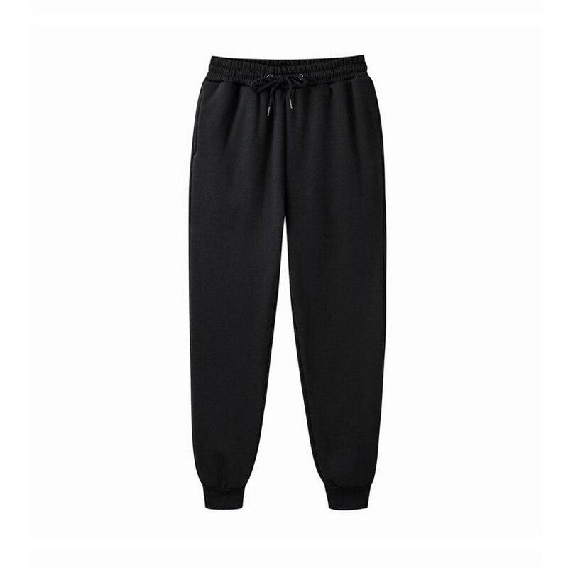 Модные мужские спортивные штаны, повседневные спортивные длинные брюки со средней талией, облегающие брюки, однотонные удобные штаны для б...