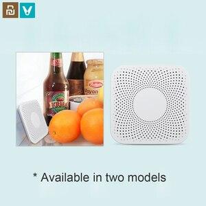Image 1 - Youpin VIOMI VF 2CB مربع أبيض المطبخ الثلاجة لتنقية الهواء المنزلية الأوزون تعقيم جهاز مزيل الرائحة نكهة فلتر الأساسية