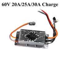 Cargador 60v 30A 60v 25A 20A cargador de batería de litio de voltaje 16s 67,2 v Ion de litio 20s cargador de ácido de plomo inteligente 73v 25s 70v LTO