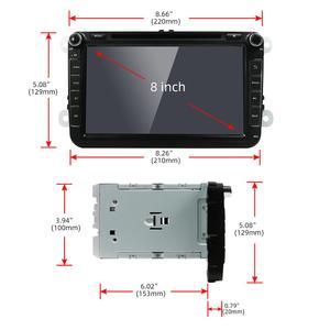 Image 4 - Android 10 Car DVD player GPS Navigation Car Radio For Volkswag/Golf/Tiguan/Skoda/Seat/Altea/Skoda Wifi Bluetooth Rear Camera 4G