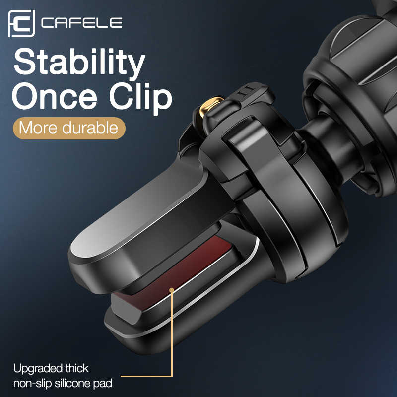 Cargador de coche inalámbrico de lujo Cafele, para teléfono en el coche cargador inalámbrico inteligente de infrarrojos cargador de teléfono de coche