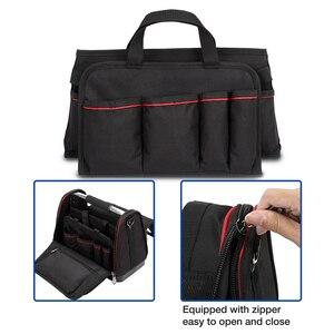 Image 5 - Сумка для инструментов WORKPRO, органайзер, набор инструментов, наплечная складная сумка из 600D полиэстера, не Складная