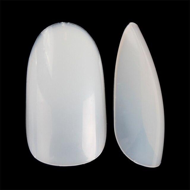 Фото 500 шт овальные накладные ногти с полным покрытием искусственный цена