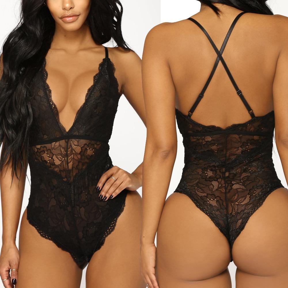 Women Plus Size XXXL Nightwear Sexy Lingerie Underwear Sling Lace Racy Temptation Lenceria Erotic Mujer Lingerie Sexy Hot Erotic(China)