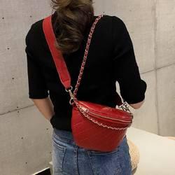 2019 Модные женские бордовые молнии нагрудные сумки черные сумки через плечо с клапаном Diamounded металлическая цепь сумка на плечо дропшиппинг