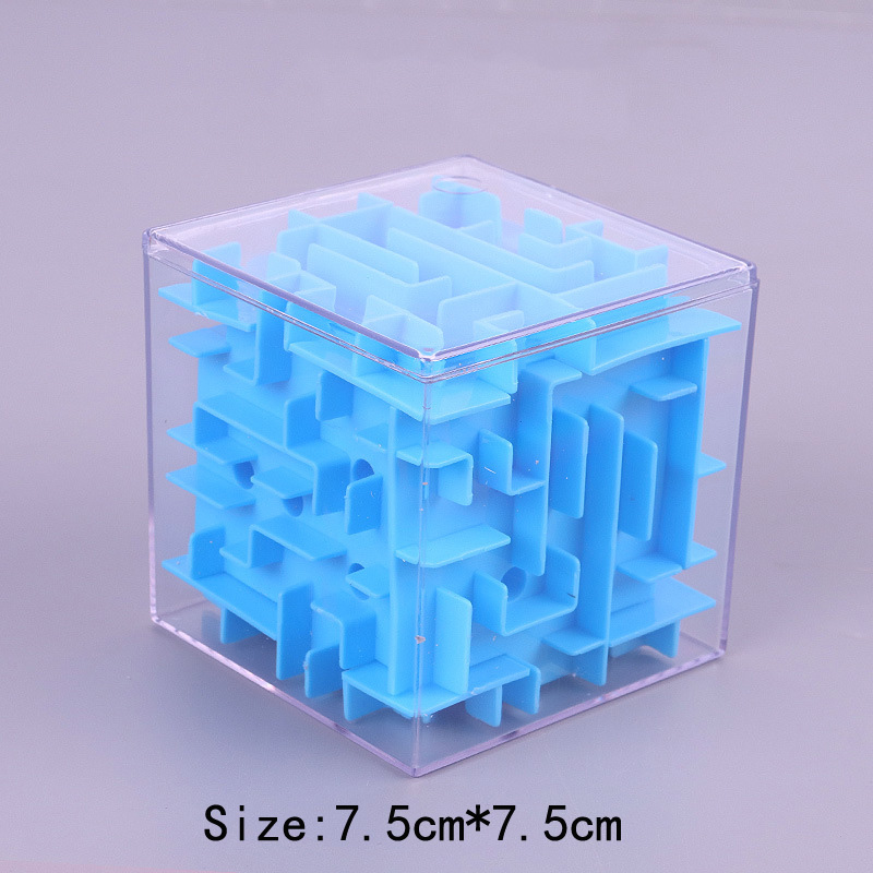 TOBEFU 3D Maze Magic Cube Transparent Six-sided Puzzle Speed Cube Rolling Ball Game Cubos Maze Toys for Children Educational 13
