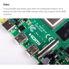 Latest Raspberry Pi 4 Model B with 2/4/8GB RAM BCM2711 Quad core Cortex-A72 ARM v8 1.5GHz Support 2.4/5.0 GHz Speeder Than Pi 3B 3