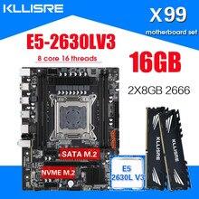 Kllisre X99 материнская плата с Xeon E5 2630L V3 LGA2011-3 CPU 2 шт. X 8 ГБ = 16 Гб 2666 МГц DDR4 память