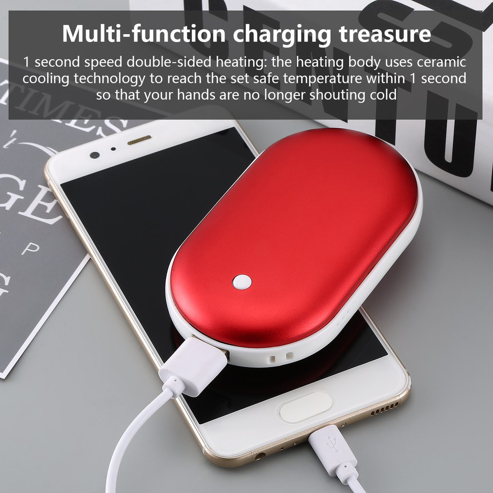 4000/8000mAh Cute USB Rechargeable LED Electric Hand Warmer Heater Travel Handy LongLife Mini Pocket Warmer Home Warming Product|Stove Hand Warmers| |  - title=