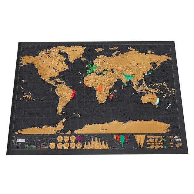 Роскошная стираемая карта мира, Карта мира для путешествий, Карта мира, карта для путешествий, 82,5x59,4 см, декоративные наклейки на стену для