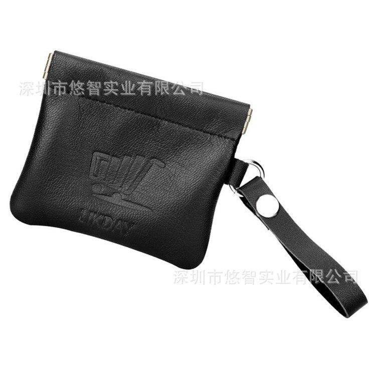 Purse Headset Storage Bag PU Leather Creative Hand Strap Square Mini Bag