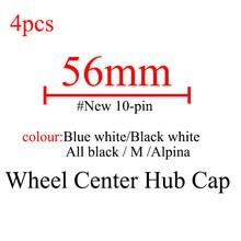 4pcs 56mm Carro Jantes Emblema do Centro de Roda Hub Caps Covers para BMW E90 F10 F30 E60 E92 X1 X3 X4 X5 E61 E93 E63 F01 GT 528i xDrive