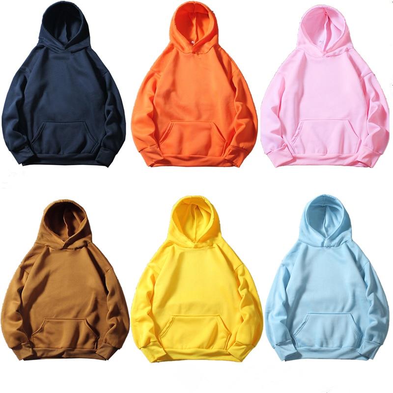 10 Colour Casual Blue Orange Purple Green Hoodie Solid Color Street Wear Sweatshirts Skateboard Men/Woman Pullover Hoodies