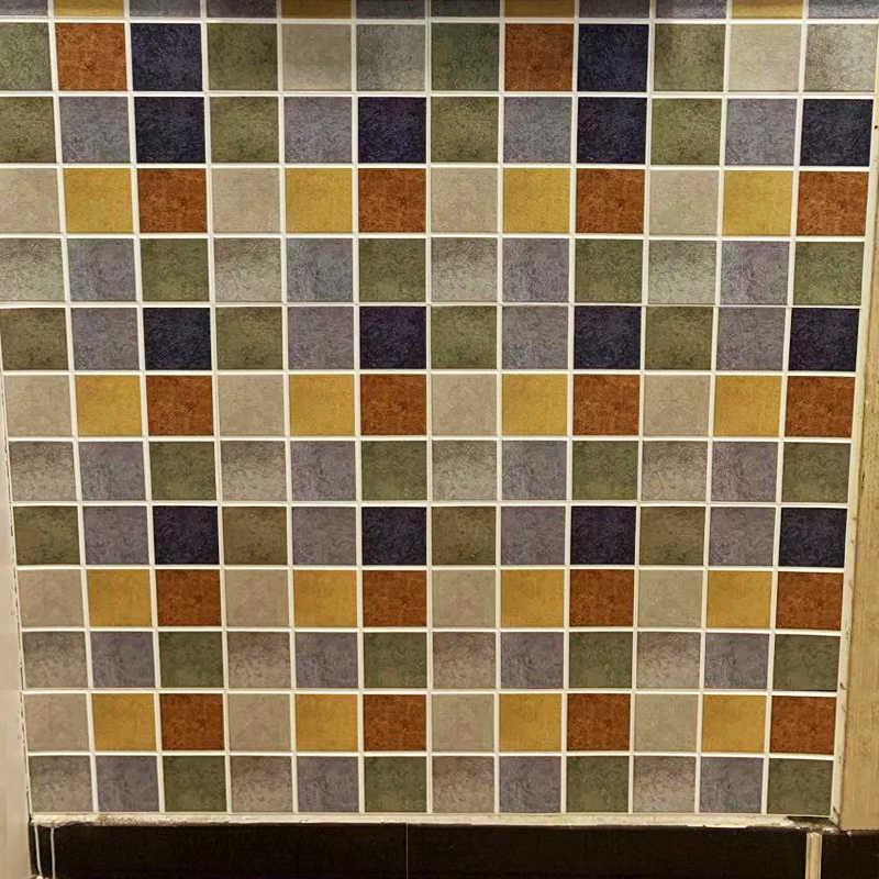 Küche Bad 3D Wasserdicht Self Adhesive Mosaic Wand Aufkleber Schrank Aufkleber Schälen Stick Backsplash Vinyl Fliesen 3D Wand Panel