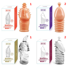 Lengthen Enlargement Condoms Extend G point Ring Male Penis Extension Sleeves Sex Toys for Man Adults Intimate Goods