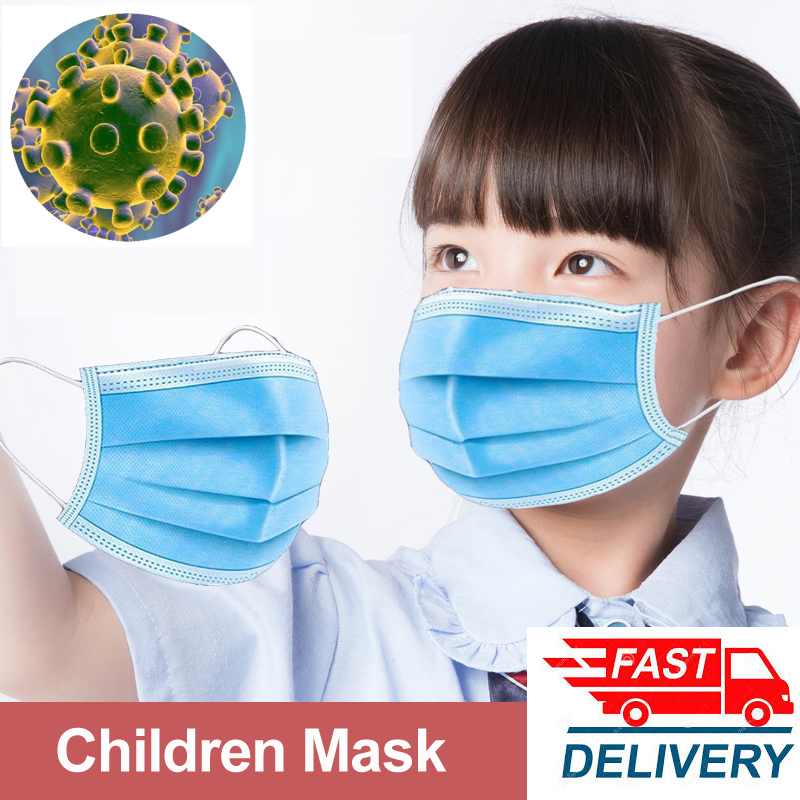 Profession Child Kids Boys Girls Mouth Masks  3-Ply Nonwoven Disposable Breathable Children Face Mask Coronavirus Tapabocas