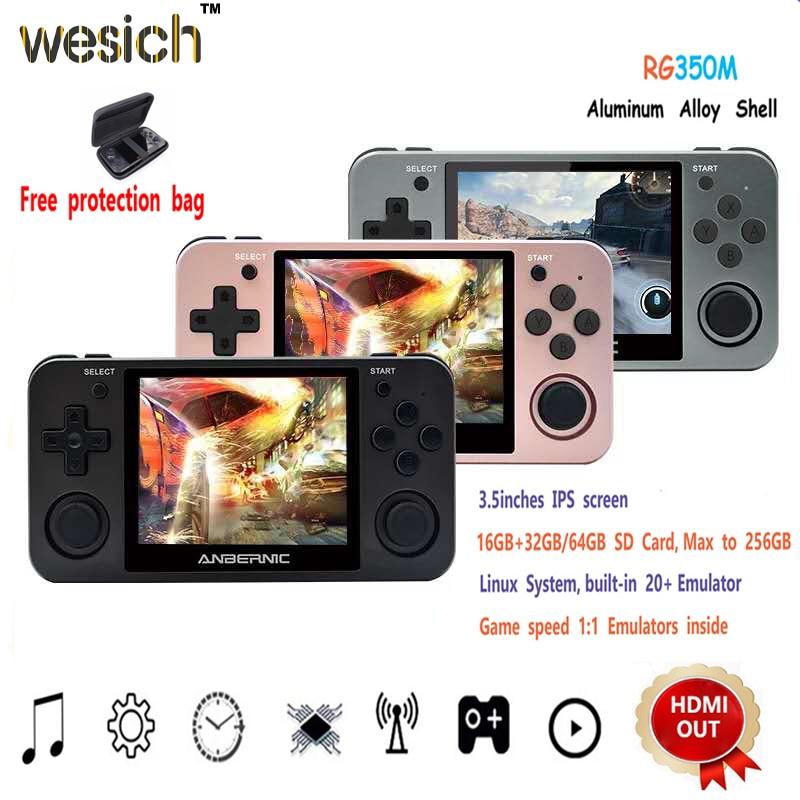 Портативная игровая ретро консоль vesich RG350, 64 бит, 3,5 дюймовый IPS экран, 16 ГБ, RG 350 PS1 RG350M