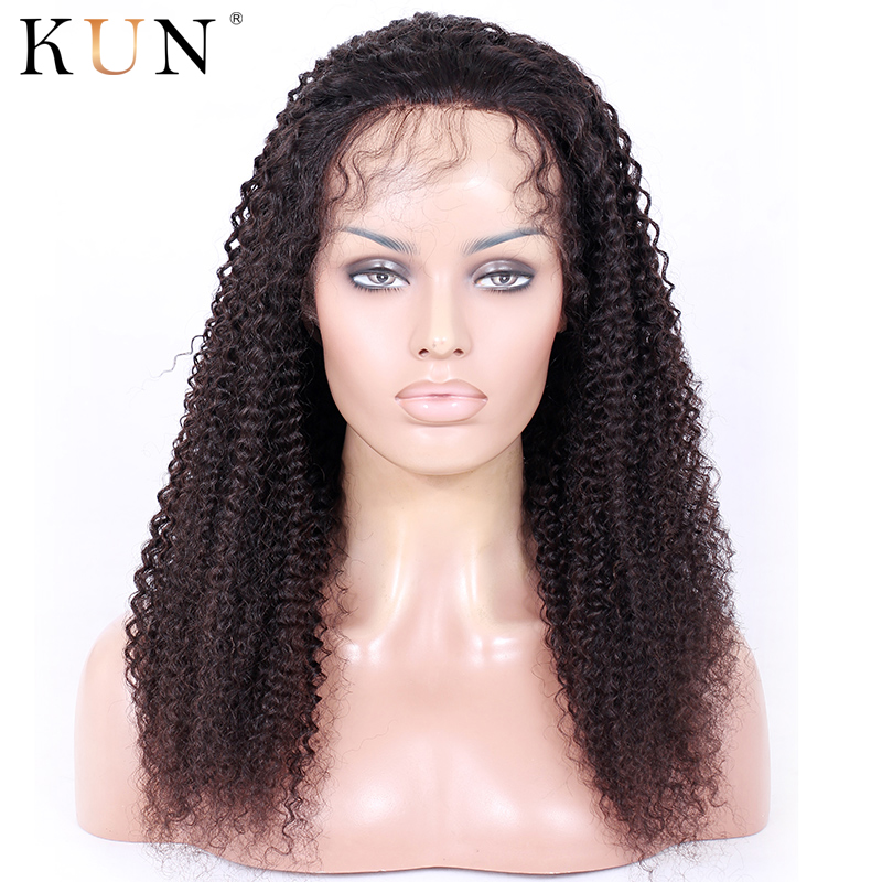 360 Lace Frontal Wig Curly Human Hair Wig 4.5&6 Inch Deep Part 360 Lace Wig 150 180 Density Pre Plucked Brazilian Remy 12-22