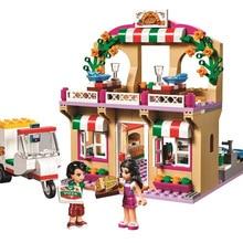 """310 шт., серия """"друзья"""", """"Heartlake Pizzeria"""", модель Legoinglys 41311, строительные блоки, Обучающие, рождественские, детские"""