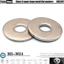 304/316 stainless steel large flat washer GB5287 oversized metal gasket GB5287 size M5M6M8M10M12M14M16M18M20M22M24...