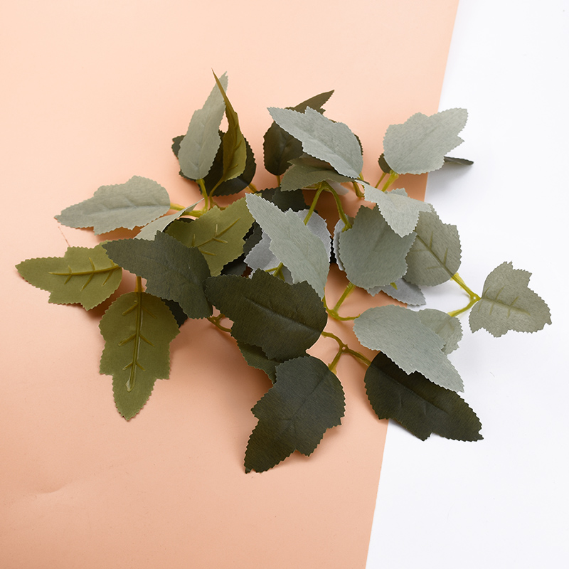 10pcs Artificial Plants Christmas Leaves Diy Gifts Box Home Decoration Accessories Wedding Decorative Flowers Wreaths Silk Leaf