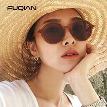 FUQIAN 2019 Fashion Round Polarized Sunglasses Women Popular Small Plastic Oval Female Sun Glasses Light Weight Eyewear