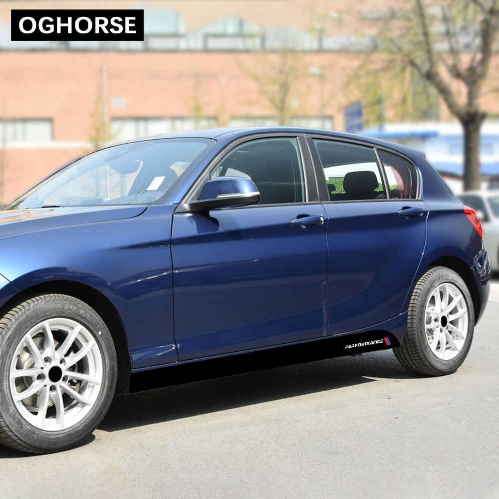 M Performance puerta del coche lado de la falda del alféizar etiqueta adhesiva M estilo deportivo para BMW 1 serie F20 F21 118i 120i 125i 128i 135i