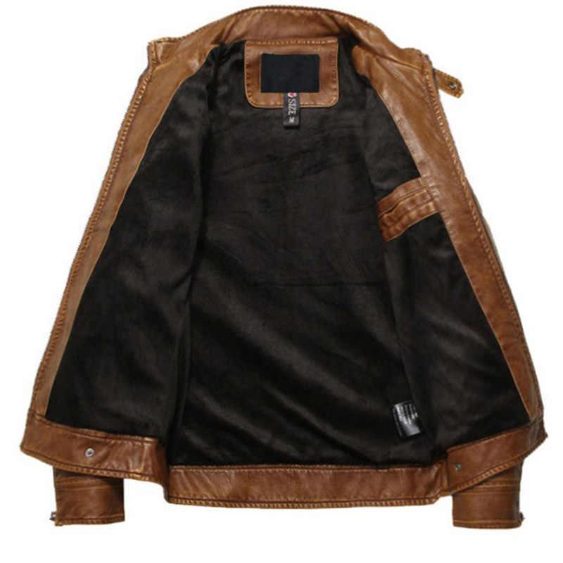 Męski płaszcz Jaqueta skóra motocyklowa kurtki mężczyźni jesienno-zimowa odzież skórzana męskie kurtki skórzane męskie biznesowe płaszcze casualowe