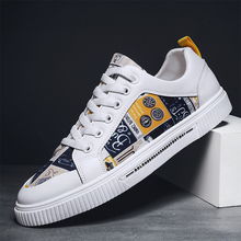 2020 New Unisex Yellow White Sneakers Graffiti Women Shoes Designer Fashion Leather Casual Woman basket femme