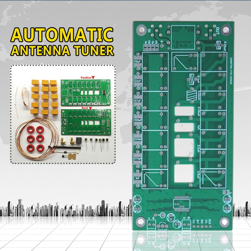 PINTUDY Kit DIY Automatic Antenna Tuner 7x7 (ATU-100 mini by N7DDC) Board Instruments Analyzers Electronic Measuring Instruments