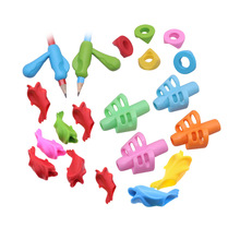 10 Pcs Child Children Writing Pencil Kids Learning Practise Silicone Pen Aid Posture Correction Device For Students School