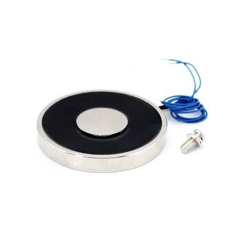 цена на 70*10 DC Electromagnet With Remote Control 12V Electromagnet For Car Solenoid 24V Suction 15KG Electric Magnet Magnetic 12 Volt