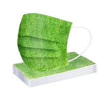 Jednorazowe Spunlace tkaniny maski na usta oddychające tłoczone ochronne maska osłona na twarz Mascarilla dorosłych zielony mieszane kolor maski tanie tanio COTTON NONE Chin kontynentalnych WOMEN Drukuj 3 Layer Ply Filter Mask masks 12-24hours Non-woven fabric + melt-blown fabric