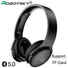 H1 אלחוטי משחקי אוזניות Bluetooth V5.0 HD HIFI סטריאו הפחתת רעש אוזניות עם כרטיס TF חריץ עבור IOS אנדרואיד טלפונים