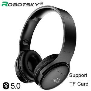 Image 1 - H1 auriculares inalámbricos con Bluetooth V5.0, auriculares estéreo HIFI HD con reducción de ruido y ranura para tarjeta TF para teléfonos IOS y Android