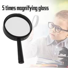 ACEHE Handheld Reading 5X Magnifier Hand Held Magnifying acrylic 25mm Mini Pocket Magnifying Glass Lens Reading Microscope(China)