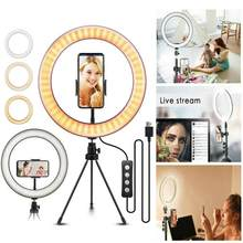 "10 ""LED Ring Licht Tragbare Multi-szene Verwenden Selfie Ring Licht Mit Stativ Kit Für Kamera Telefon selfie Video Live-Stream(China)"