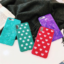 Glossy Marble Case For Coque iphone 6 7 8 Plus X XS Max XR Bling Conch Shell Epoxy Silicone Glitter Soft TPU Cover iPhone