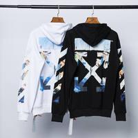 2020 OFF WHITE OW Oil painting hoodie Arrow Hooded Sweatshirt OS Loose Heavy Hoodies Couple